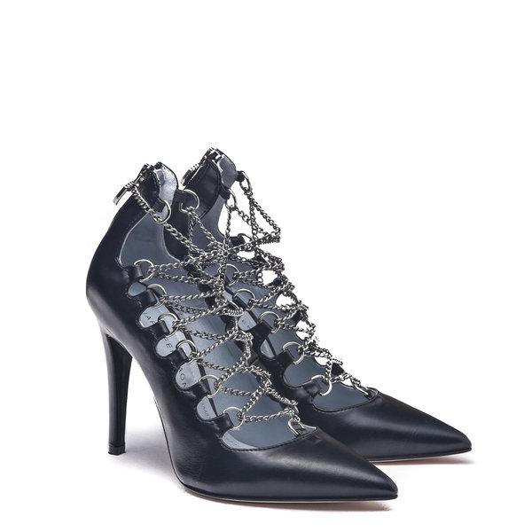 Flirting系列 黑色綁帶高跟鞋 $19,800.JPG