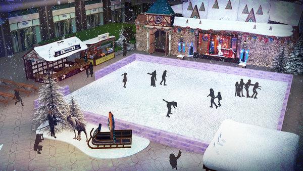 由英國直送來台的戶外溜冰場,不管是親子同樂或是情侶約會,都能創造永生難忘的冬季體驗。(圖由台灣華特迪士尼提供).jpg