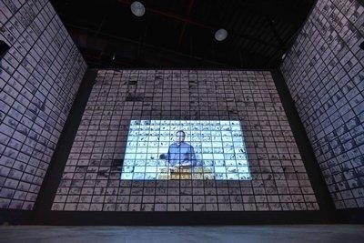 夢工廠動畫特展精心打造巨幅動態分鏡牆,民眾可一窺動畫幕後製作秘辛。.jpg