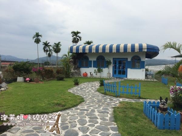 [南投埔里ღ景觀餐廳] 可妮小屋─藍白希臘風格小屋&可愛南瓜戶外用餐區(親子友善餐廳)