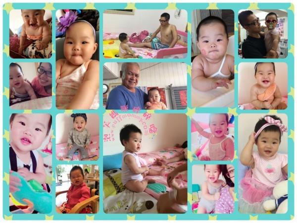 [Baby Daily] (7~9M)小泡芙成長記事─爬行、站立、撒嬌、裝可愛♥