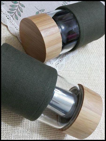 【開箱。生活雜貨】 WOKY沃廚。北歐風磁力吸式耐熱濾茶/咖啡玻璃杯450ML