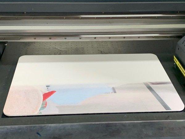 珪藻土地墊反面印刷-UV直噴機