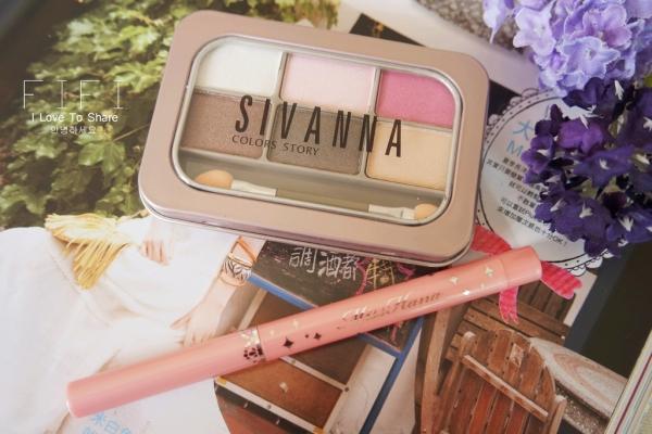 ▌彩妝 ▎Miss Hana 花娜小姐 明眸亮彩臥蠶眼影筆x Sivanna HF-131 晶耀礦石色系鐵盒眼影盤