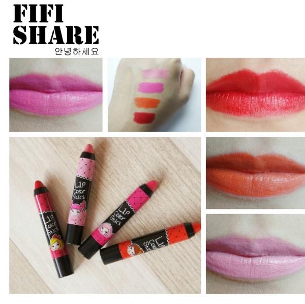 ▌彩妝 ▎韓國 LIOELE 保濕不脫色3 in 1口紅筆♥打造迷人的唇色