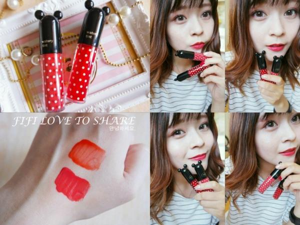 ▌彩妝 ▎韓國 The Face Shop╳Disney 聯名水漾染唇露♥擦出我想要的俏皮風格