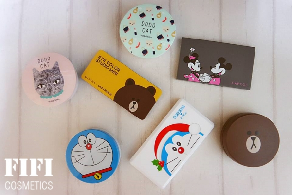 ▌彩妝 ▎韓國卡通聯名系列彩妝品  氣墊粉餅x眼影♥可愛指數破表了