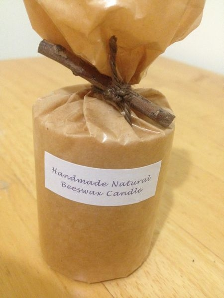4樓公寓手感精油蜂蠟蠟燭-小圓捲 Handmade Natural Beeswax Candle