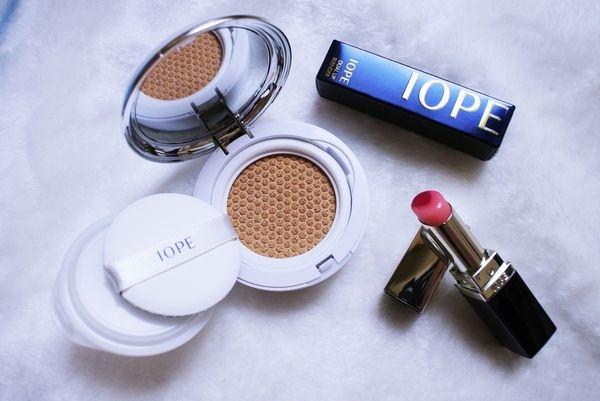 ♥ 韓國熱賣款 ↬ IOPE 月蝕唇膏 & 水潤光透氣墊粉底