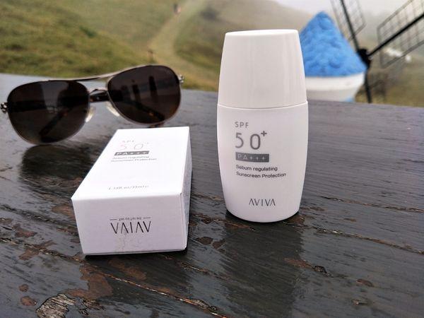 炎夏必備  AVIVA SPF50+PA+++控油保濕防曬乳  體驗