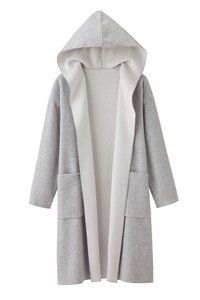 女裝羊毛混紡連帽開襟外套_原價NT$1790.JPG