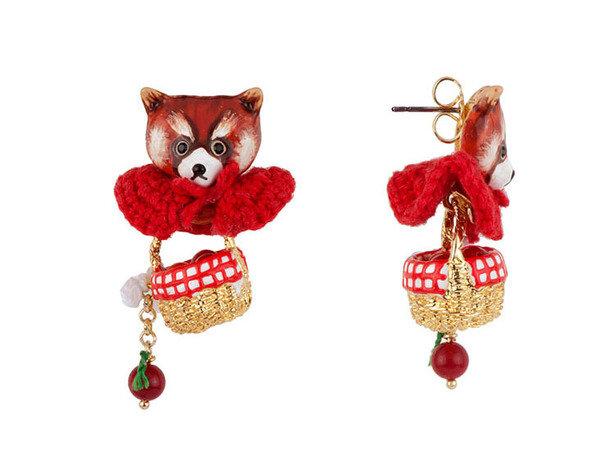 浣熊小紅帽蕾歐妮系列耳環 NT$4600.jpg