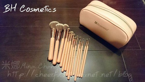 【彩妝】BH cosmetics 粉色14件刷具套組