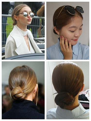 Gigi Hadid 哈比丸子頭 1分鐘超簡單綁法分享 今夏必備優雅髮型