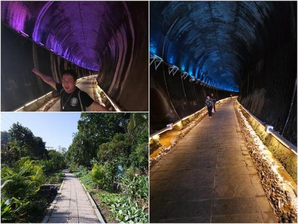 苗栗景點推薦 功維敘隧道 夢幻的百年七彩燈光隧道