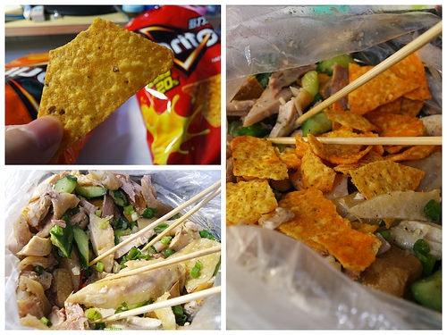 宵夜美食推薦 多力多滋加鹽水雞 變身墨西哥料理 極品鹽水雞
