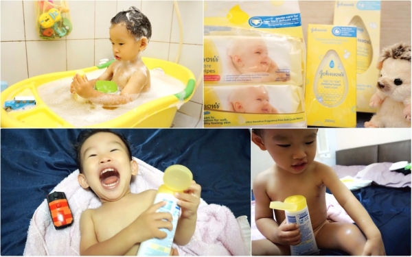 【育兒好物】寶貝的洗沐時光~溫柔呵護寶寶細嫰的肌膚。嬌生新生護敏寶貝系列-洗髮沐浴乳/水凝乳/乳液護膚柔濕巾