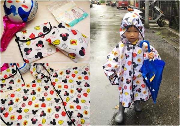 【寶寶好物分享】雨天必備小孩的第一件雨衣,下雨天也能開心的出門玩耍囉~ViVibaby迪士尼款輕量幼兒雨衣/斗篷雨衣。帽沿鬆緊設計怎麼動都不怕