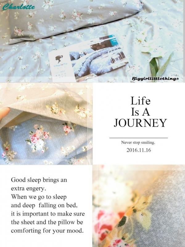 [ 生活 ] 【夏綠蒂】★精梳棉床包組開箱★冬天裡的一抹莊園藍