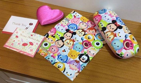 [日本雜貨] 迪士尼 Q版人物 眼鏡盒Disney Cutie characters glasses case