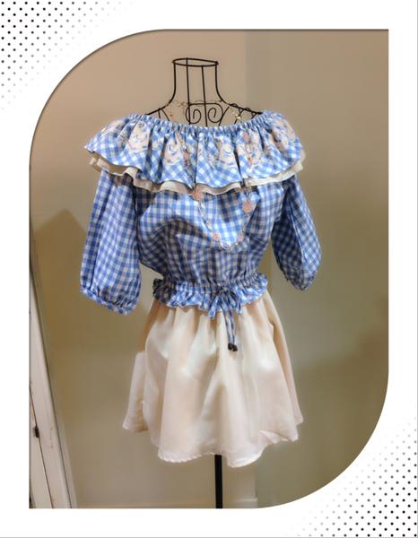 [日本雜貨] Autumn New arrival : 南法少女的清新浪漫格紋洋裝