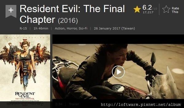 影評:惡靈古堡最終章 Resident Evil: The Final Chapter / BloggerAds的推薦電影心得分享