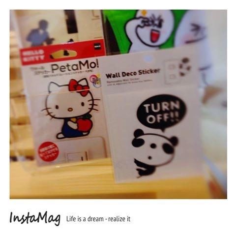 [日本雜貨] ~* 彩色Hello Kitty & 趣味文字 電源開關壁貼 *~