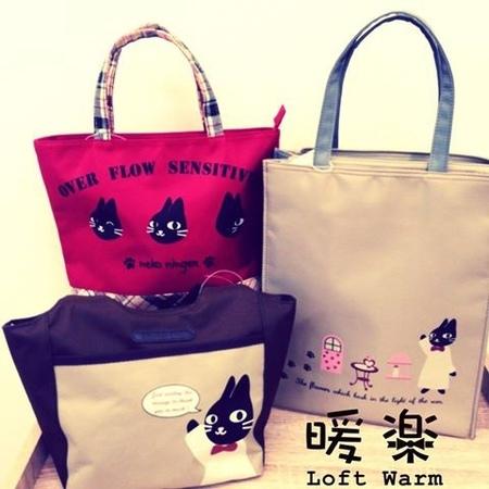 [日系包款] 文青系 貓圖案包包