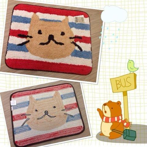 [日本雜貨] 可愛貓咪地墊