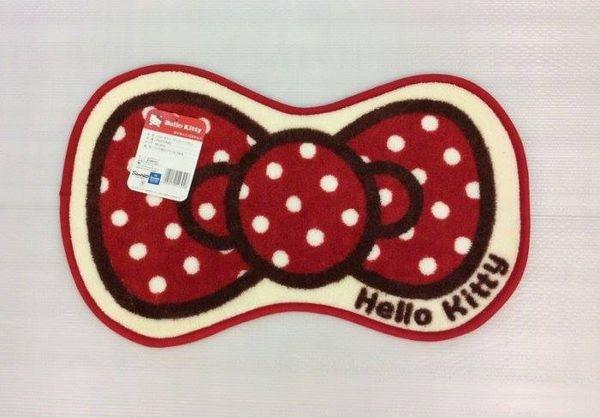 [日本雜貨] 日本限定 Hello Kitty 蝴蝶結造型踏墊