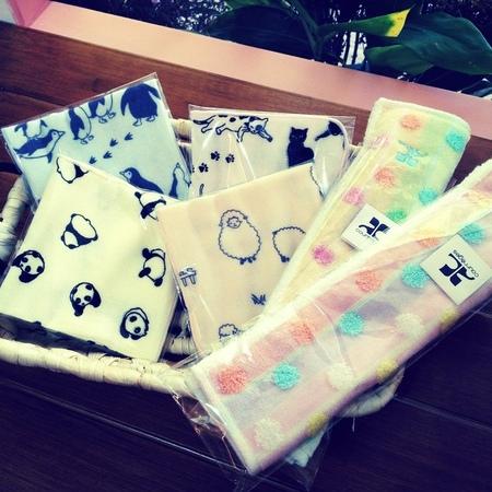 [日本雜貨] 暖樂 Loft Warm - 軟綿的動物風造型小手巾&和風手帕