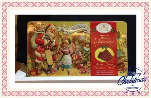 [歐美零食] # 聖誕歡樂立體鐵盒 巧克力 #