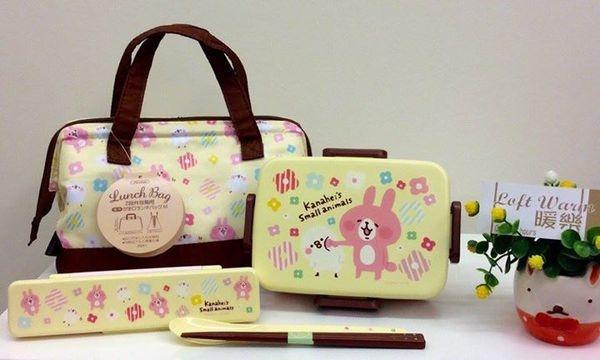 [日本雜貨] 暖樂 持續為大家的生活增添質感與樂趣!!日本當紅的Line人氣貼圖 兔兔&P助 卡娜赫拉的小動物餐具組