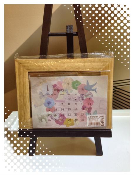 [日本雜貨] 2015 相框造型桌曆 / 2015 desk calendar