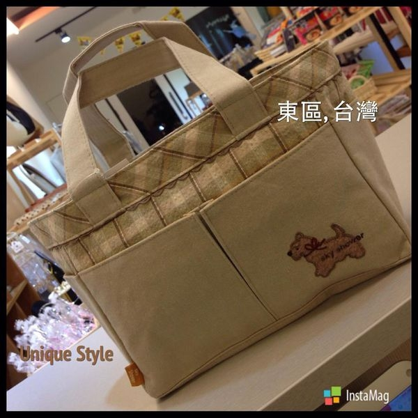 [日系包款] § 優雅狗狗 拉鍊布包 § Elegant dog Clothes bags §