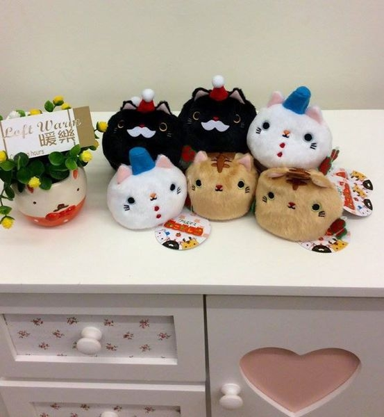 [日本雜貨] 貓咪沙包 暖心療癒系 登場~ 可愛的聖誕老人,小雪人,麋鹿裝扮!!該買哪個好?
