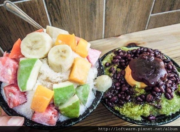 新竹懷舊風又有點日式的冰店 冰斗 抹茶紅豆布丁冰 水果牛奶冰 挫冰量好多~清涼消暑!