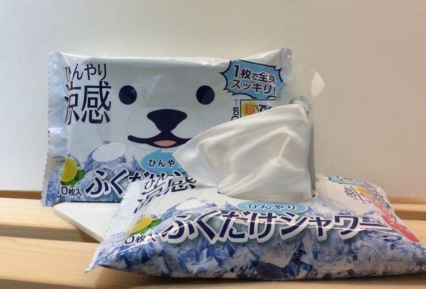 [日本雜貨] 小白熊 涼感大紙巾(小毛巾) 隨身包