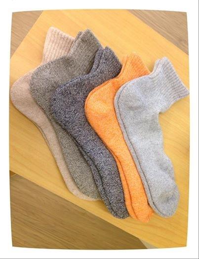 [日本雜貨] # 彩色的柔軟棉襪 #