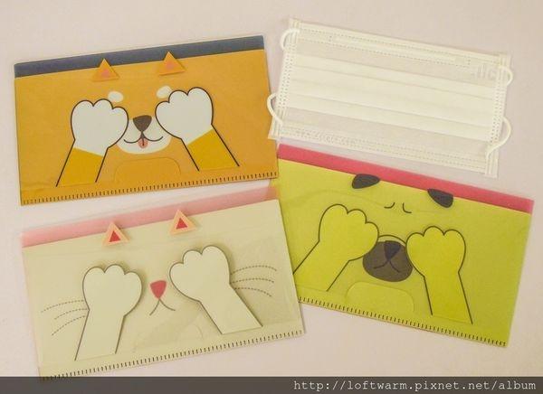 日本設計可愛動物造型口罩收納套夾 方便攜帶使用前後的口罩~
