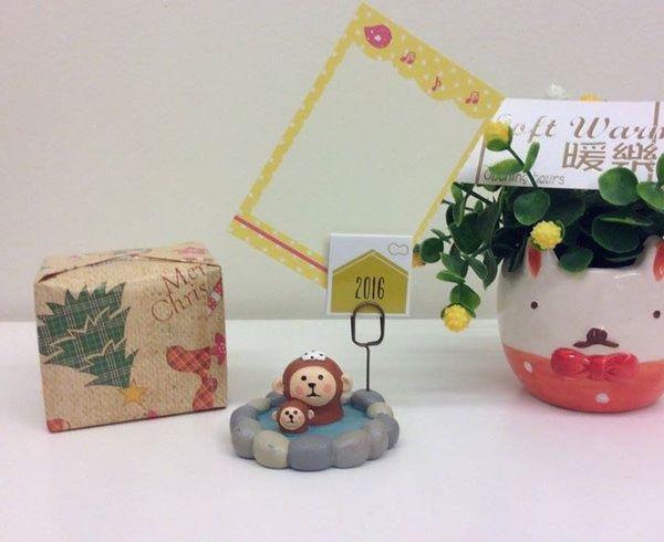 [日本雜貨] 挑選聖誕禮物 當然要在 暖樂 囉!! 今日推薦 溫泉猴 便條memo夾!!