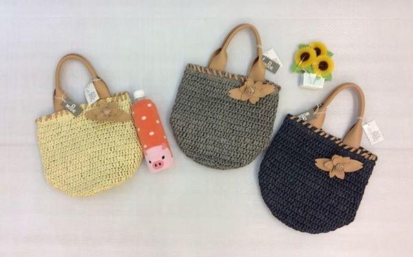 [日本雜貨] 夏日風 編織手提包
