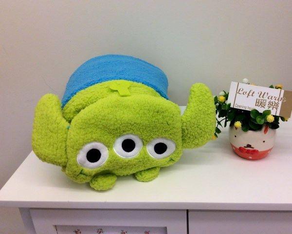 [日本雜貨] 玩具總動員 Alien 披肩毛毯2用~ 溫暖系新品上架囉~