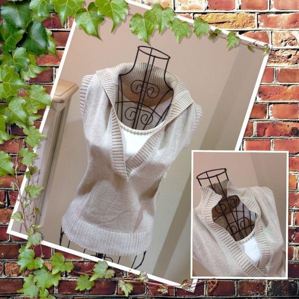 [日本雜貨] Autumn New Arrival : 素雅立領針織背心 X 珍珠內搭背心