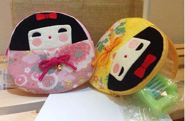 [日系包款] 日本和風娃娃 零錢包 化妝包 小物包