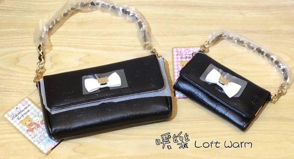 [日系包款] 拉拉熊黑色經典款手提晚宴包 鑰匙零錢包