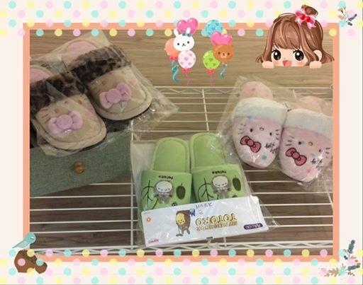 [日本雜貨] # Kitty Totoro 室內拖鞋 #
