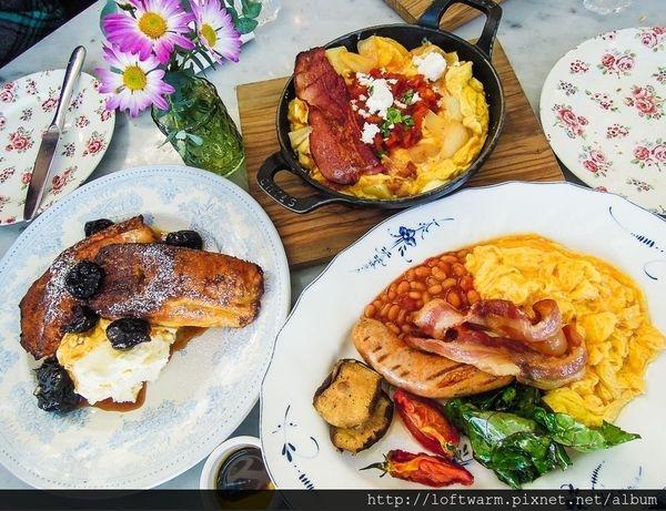 韓國夢幻早午餐 韓劇W兩個世界 世界上所有的早餐 SKY FARM 法式吐司 西班牙歐姆蛋 英式早餐