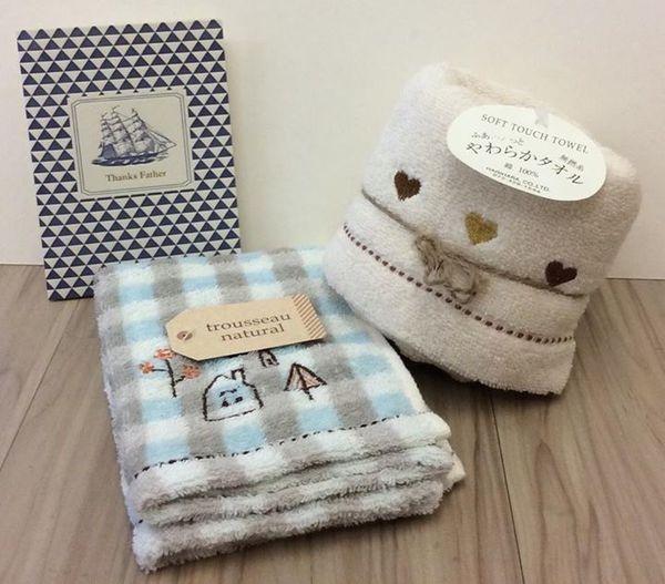 [日本雜貨] 父親節禮物大推薦  trousseau natural 百分百棉質毛巾