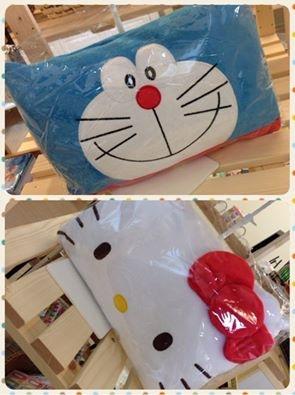 [日本雜貨] ♩♪♩ ♩♪♩ 超可愛的卡通明星枕頭....